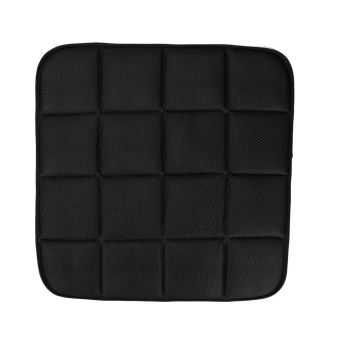 Bamboo Charcoal Breathable Car Seat Cushion Cover Chair Mat (Black)