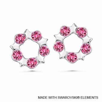 Becky Earrings Rose Crystals from Swarovski®