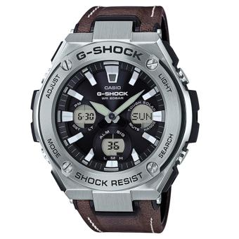 Casio G-Shock New G-STEEL Brown Leather Strap Watch GSTS130L-1A