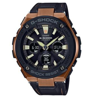 Casio G-Shock New G-STEEL GST-S120L model Black Leather Strap Watch GSTS120L-1A