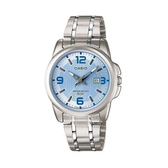 Casio Women's Silver Stainless Steel Strap Watch LTP-1314D-2A