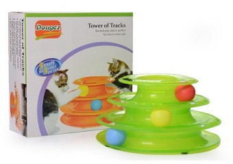 Cat toys Cat Three Layer turntable cat scratch bowling educational toys play plate cat supplies pet funny cat toys
