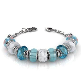 charm bracelet blue crystals from swarovski 174 lazada