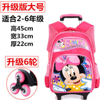 Climb stairs wheel young student's men and women trolley school bag