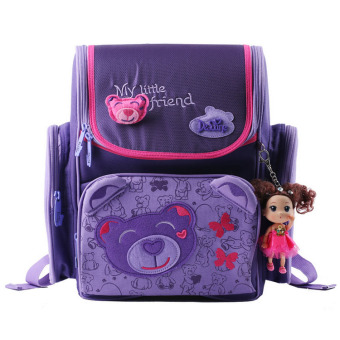 Delune students school bags girl children's a grade three girls 1-3 girls cute lightweight spinal care Decompression