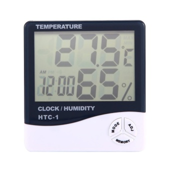Digital LCD Hygrometer Thermometer Alarm Clock 3 In 1(ChargerIncluded) - intl