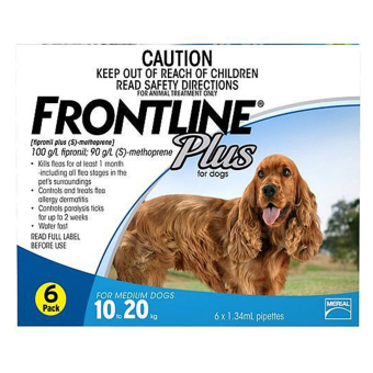 FRONTLINE PLUS FOR DOGS (10-20KG) 6 pippetes