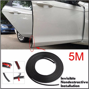 GETEK Car Door Trim Edge 5M Body Strip BLACK Mold Scratch GuardProtector - intl