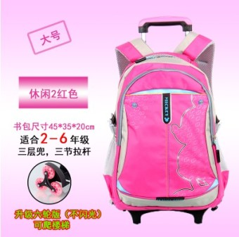 Hand pull-for men and women trolley backpack school bag