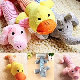 New Dog Pet Puppy Plush Squeaker Squeaky Toys Pig Duck &Elephant toys