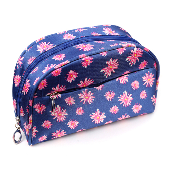 Portable large capacity cosmetic pouch women's makeup bag