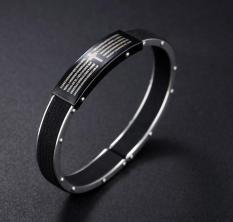 ... Real Leather Bracelet with Stainless Steel Bible Cross Retro Men s Bracelet Creative Personality Punk Bracelets