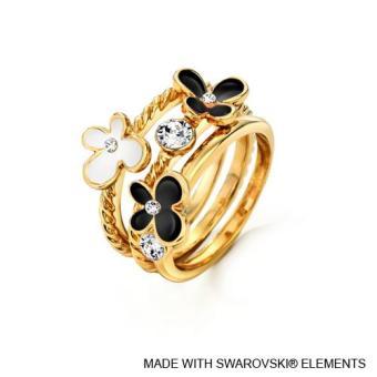 Spring Ring Jet Crystals from Swarovski®