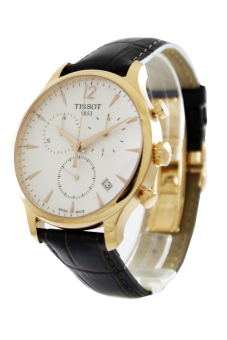 Tissot T-Classic Tradition Men's Brown Leather Strap Watch T063.617.36.037.00
