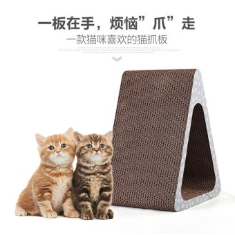 Triangle Cat Scratch board cat toys corrugated cat mill claw platemill claw is wear cat mint pet cat supplies