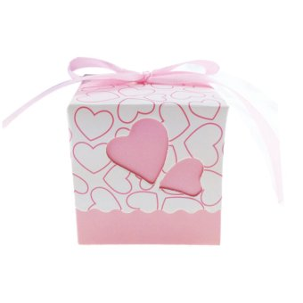 Wedding Gift Boxes Wholesale Singapore : ELENXS Love Heart Candy Boxes Wedding Favor Party Gift Boxes With ...