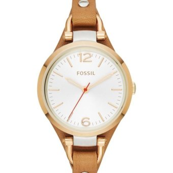 fossil womens es3565 gold tone stainless steel