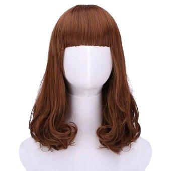 ... Hair Cosplay Costume Brown Full Wig Wigs (Light Brown) (EXPORT) - Intl