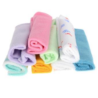 Imixlot 8pcs Baby Infant Soft Bath Towel Washcloth Bathing Wipe Cloth Lazada Singapore