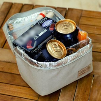 portable insulated thermal cooler bento lunch box tote picnic grey export. Black Bedroom Furniture Sets. Home Design Ideas