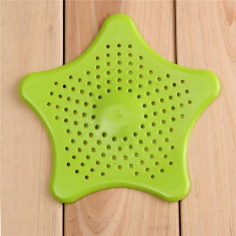 practical starfish drain hair catcher bath stopper strainer filter shower cover green export. Black Bedroom Furniture Sets. Home Design Ideas