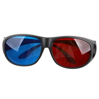 Big Frame Glasses Singapore : Red Blue Anaglyph Plastic Large Frame 3D Vision Glasses ...