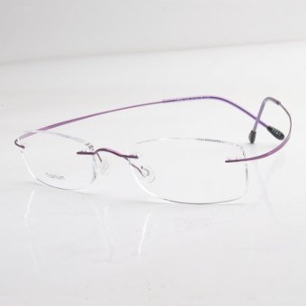 Rimless Glasses Singapore : Ultra-light Titanium Rimless Eyeglasses Frame Plain lens ...