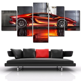 ... WallDecor Canvas Art HD Picture Paint on Canvas Prints Delivery (Intl: www.lazada.sg/unframed-5-pcs-supercar-hd-canvas-print-painting...