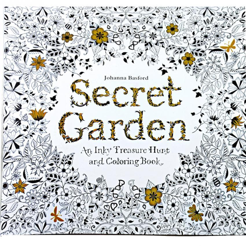 1pcs Secret Garden 2016 New An Inky Treasure Hunt And Coloring Book For