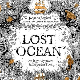 1PCS Lost Ocean 2016 New Secret Garden An Inky Treasure Hunt And Coloring Book For