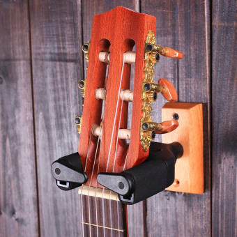 Harga U1 Wall Mount Guitar Hanger Hook Holder Keeper Auto Grip System EVA Cushion Solid Wood Base for Electric Acoustic Guitars Bass String Instrument Black Outdoorfree - intl