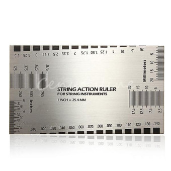 Harga String Action Gauge Ruler Guide Setup Measuring Luthier Height Gage for Guitar