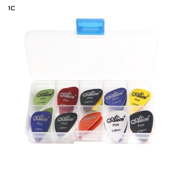 Harga 24pcs Acoustic Electric Guitar Picks Plectrum Various thickness + Pick Box - intl