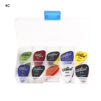 Harga 50pcs Acoustic Electric Guitar Picks Plectrum Various thickness + Pick Box - intl