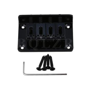 Harga 60x40x13mm 4 String Vintage Guitar Bass Bridge Black - intl