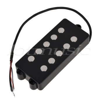 Harga Black 5 String Bass Guitar Pickup Humbucker For Music Man Bass Coil Tap - intl