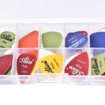 Harga 24pcs Acoustic Electric Guitar Picks Plectrum Various 6 Thickness W/ Pick Box - intl