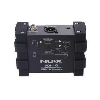 NUX PDI-1G Guitar Direct Injection Phantom Power Box Audio Mixer Para Out