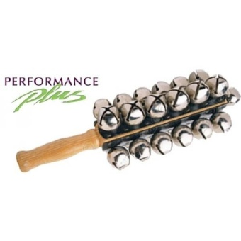 Performance Plus SBL-25 Professional Sleigh Bells- 25 Nickel Plated Jingle Bells- Four Rows with Hard Rock Maple Handle - intl