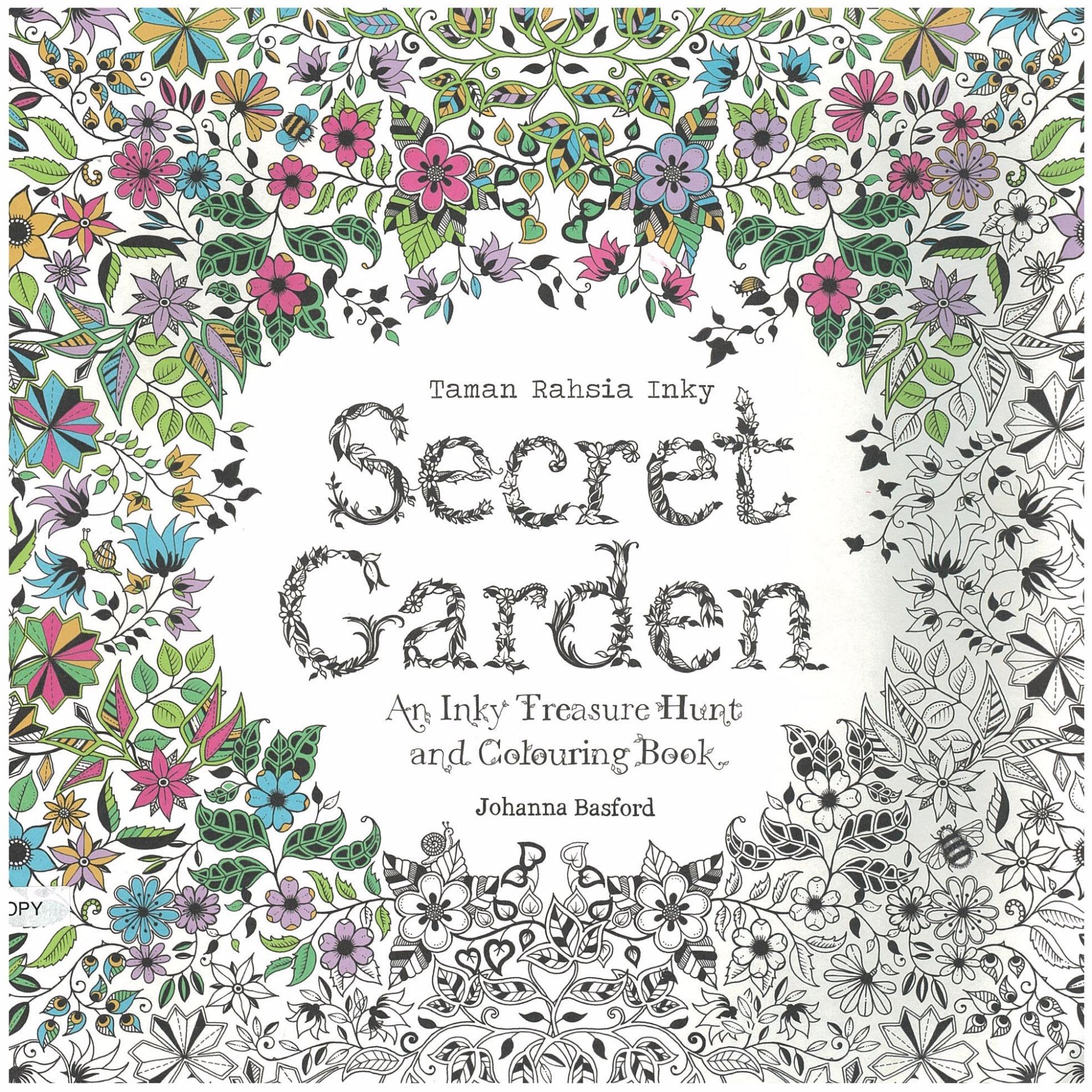 Secret Garden Malay Edition An Inky Treasure Hunt Coloring
