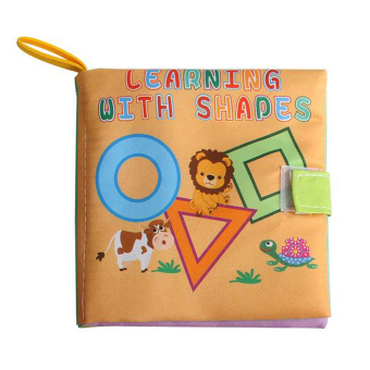 Soft Cloth Book Infant Educational Toys Newborn Learning Book(geometry)