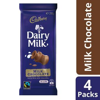 Cadbury Dairy Milk Chocolate, Pack of 4, 200g