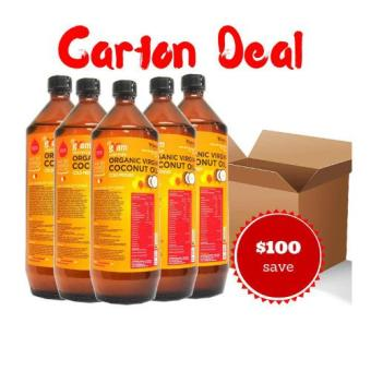 Harga Carton Deal - Dr Gram Organic Virgin Coconut Oil 1L - 12 Bottles