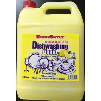 Harga HomeSaver Dishwashing Liquid 5L (Lemon)