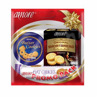 Harga Amore Biscuits Promo Pack (Butter Cookies, Oat Cookies, Shortbread)