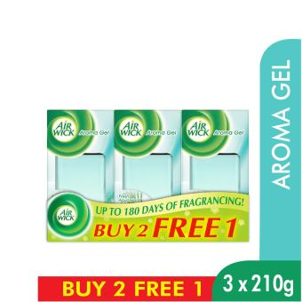 Harga Air Wick Fresh Aqua Floral Aroma Gel Triple Pack - 3 X 210 G