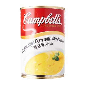 Harga Campbell's Cream Style Corn with Mushroom Condensed Soup - 1 X 305 G