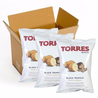 Harga Torres Selecta Black Truffle Potato Chips - 125g (Pack of 3)