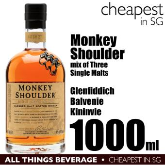 Harga Monkey Shoulder Batch 27 Speyside Blended Scotch Whisky 1000ml (Cheapest in SG)