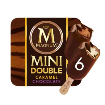 Harga Magnum Mini Double Caramel And Double Chocolate 6X(6X60ML).